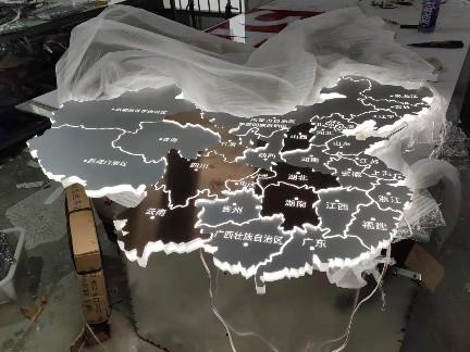 不锈钢亚克力立体发光字标识